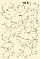 "Елементи от бирен картон ""Динозаври"", сет 131"