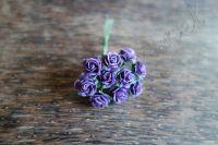 Виолетови рози от мълбери хартия, 10мм