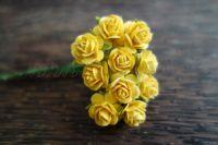 Рози, жълти, 10мм