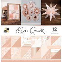 """Дизайнерски блок хартии """"Rose Quartz"""", 36л., 30.5см, DCWV"""