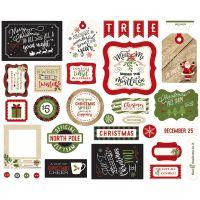 """Дизайнерски комплект с хартиени елементи """"Перфектната Коледа"""", рамки и тагове, Echo Park"""
