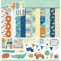 "Дизайнерски комплект хартии ""Момчета"", 30.5см, Photoplay"