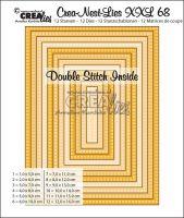 Комплект щанци за изрязване на правоъгълници - вариант 68, Crealies
