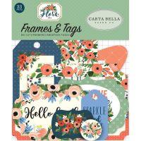 """Дизайнерски рамки и тагове """"Флора 2"""", Carta Bella"""