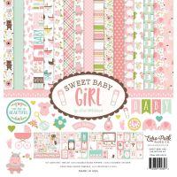 """Дизайнерски комплект хартии """"Сладко бебе - момиче"""", 30.5см, Echo Park"""