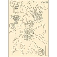 "Елементи от бирен картон ""Баскетбол"", сет 138"