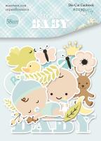 "Дизайнерски хартиени елементи ""Smile Baby"", Scrapmir"
