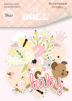 "Дизайнерски хартиени елементи ""Doll Baby"", Scrapmir"