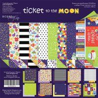"Комплект дизайнерски хартии ""Ticket to the Moon"", 30.5см, Scrapmir"