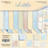 """Комплект дизайнерски хартии """"Little Bear"""", 30.5см, Scrapmir"""