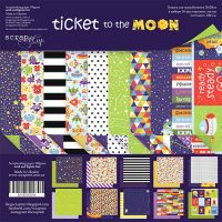 "Комплект дизайнерски хартии ""Ticket to the Moon"", 20см, Scrapmir"
