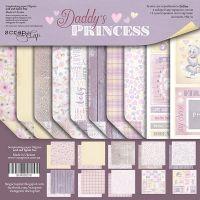 """Комплект дизайнерски хартии """"Daddy's Princess"""", 20см, Scrapmir"""