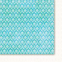 "Дизайнерски лист хартия ""Висшето общество - тюркоаз"" - 3, 30.5х30.5см, GP"