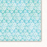 "Дизайнерски лист хартия ""Висшето общество - тюркоаз"" - 5, 30.5х30.5см, GP"