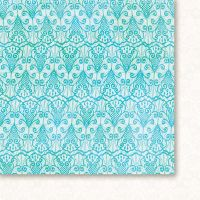 "Дизайнерски лист хартия ""Висшето общество - тюркоаз"" - 6, 30.5х30.5см, GP"