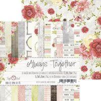 "Дизайнерски комплект хартии ""Завинаги заедно"", 15см, Craft o'Clock"