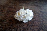 Цветя от мълбери хартия, бели, 10бр., 20мм