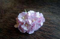 Цветя от мълбери хартия, бледорозови, 10бр., 20мм