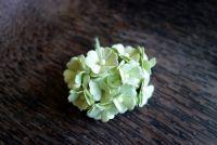 Цветя от мълбери хартия, бледозелени, 10бр., 20мм