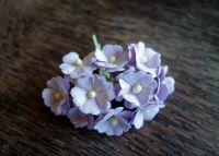 Цветя от мълбери хартия, бледолилави, 10бр., 20мм
