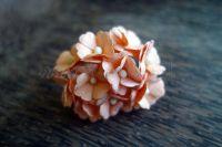 Цветя от мълбери хартия, прасковени, 10бр., 20мм