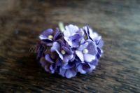Цветя от мълбери хартия, лилави, 10бр., 20мм