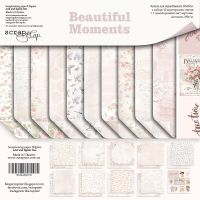 "Комплект дизайнерски хартии ""Beautiful Moments"", 20см, Scrapmir"