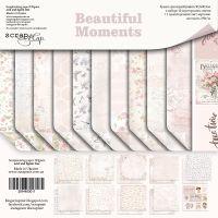 "Комплект дизайнерски хартии ""Beautiful Moments"", 30.5см, Scrapmir"