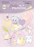 "Дизайнерски хартиени елементи ""Daddy's Princess"", Scrapmir"