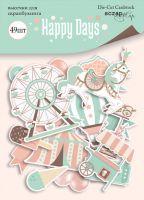 "Дизайнерски хартиени елементи ""Happy Days"", Scrapmir"