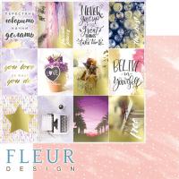 """Дизайнерски комплект хартии """"Pretty violet"""", 30.5см, Fleur Design"""