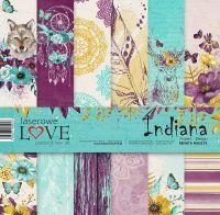 "Дизайнерски комплект хартии ""Индиана"", 30см, Laserowe Love"