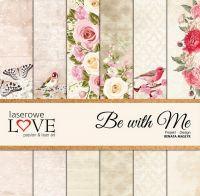 """Дизайнерски комплект хартии """"Бъди с мен"""", 30см, Laserowe Love"""