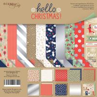 "Комплект дизайнерски хартии ""Hello Christmas"", 30см, Scrapmir"