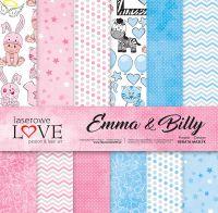 """Дизайнерски комплект хартии """"Ема и Били"""", 30см, Laserowe Love"""