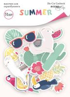 "Дизайнерски хартиени елементи ""Summer"", Scrapmir"
