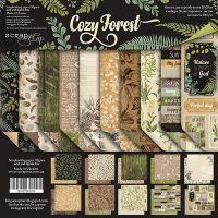 """Комплект дизайнерски хартии """"Cozy Forest"""", 20см, Scrapmir"""