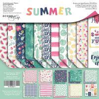 """Комплект дизайнерски хартии """"Summer"""", 30см, Scrapmir"""