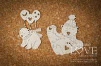 """Дизайнерски комплект от бирен картон """"Полярни мечки"""", Laserowe Love"""
