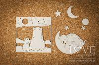 """Дизайнерски комплект от бирен картон """"Полярните мечки и луната"""", Laserowe Love"""