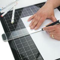 Стъклена работна подложка, 35.5cм x 58.3cм, Tim Holtz