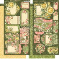 """Дизайнерски хартиени тагове и джобчета """"Богинята на градината"""", Graphic 45"""