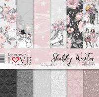 "Дизайнерски комплект хартии ""Шаби зима"", 30см, Laserowe Love"