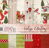 "Дизайнерски комплект хартии ""Винтидж Коледа"", 30см, Laserowe Love"