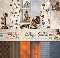 "Дизайнерски комплект хартии ""Винтидж господин"", 30см, Laserowe Love"