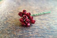 Пъпки на роза, бордо, 10бр.