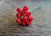 Пъпки на роза, червени, 10бр.